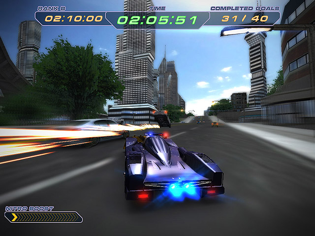 3D racing game. Special Supercar Police Unit was organized to prevent chaos.