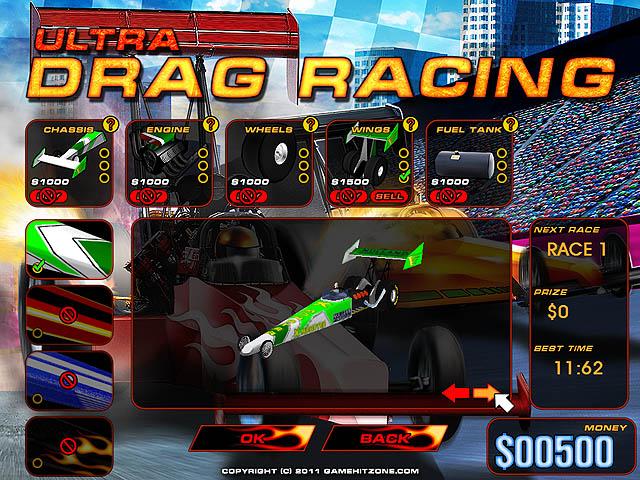 Click to view Ultra Drag Racing 1.06 screenshot