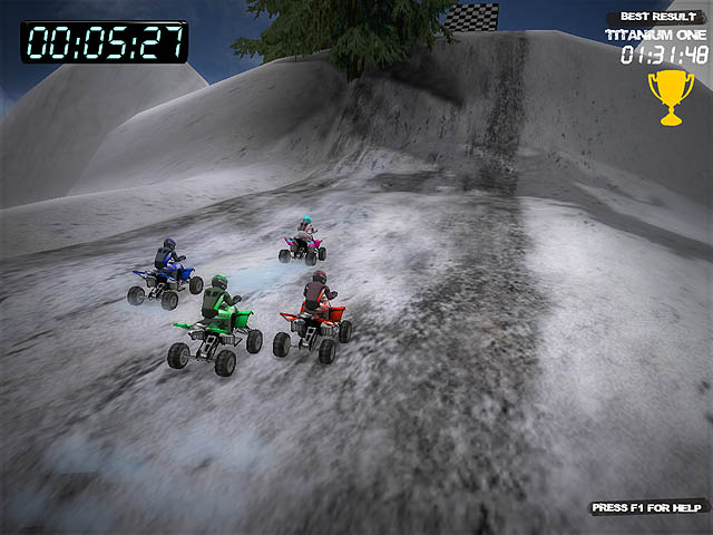 Winter Quad Racing Screenshot 2